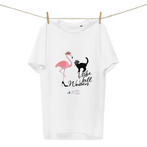 Camiseta algodón orgánico 'Cat in love'