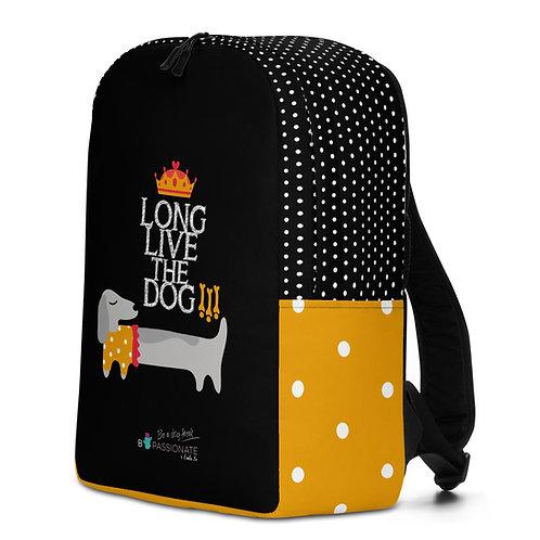 Large black 'Long Live the Dog' backpack