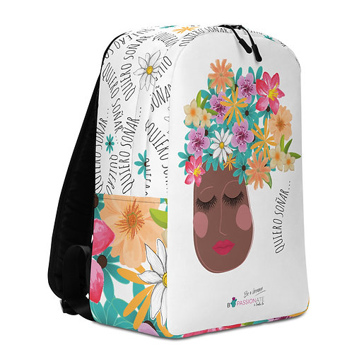 Large white 'I want to dream' backpack