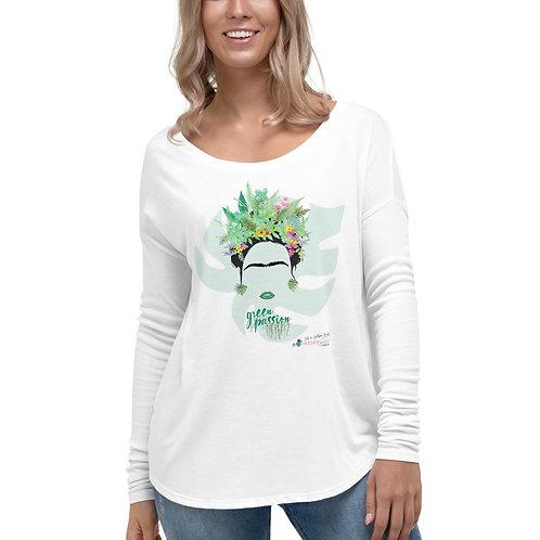 Camiseta flowy manga larga 'Green Fashion'