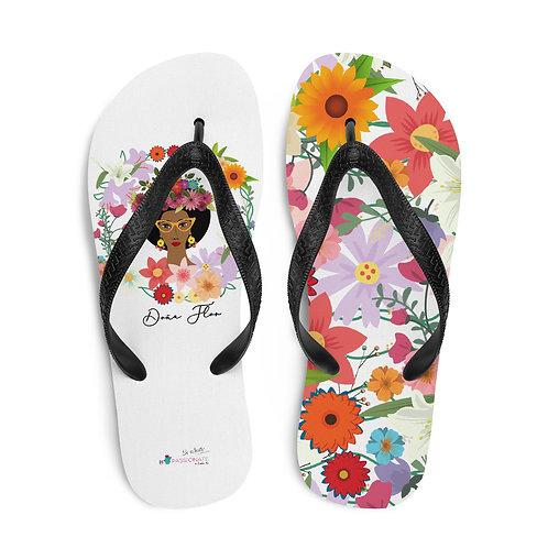 White 'Doña Flor' flip-flops