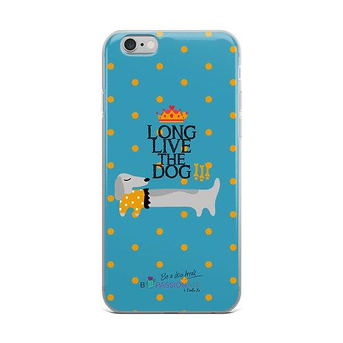 Fundas para iPhone azules 'Long live the dog'