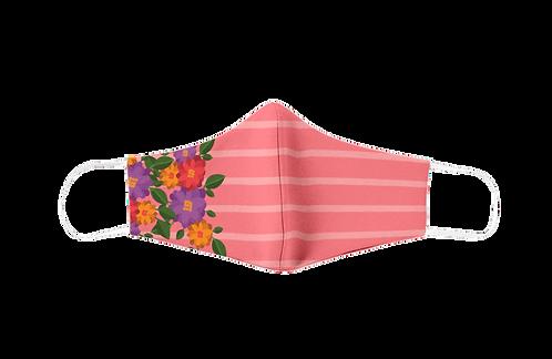 Pink striped reusable 'The smart dog' mask