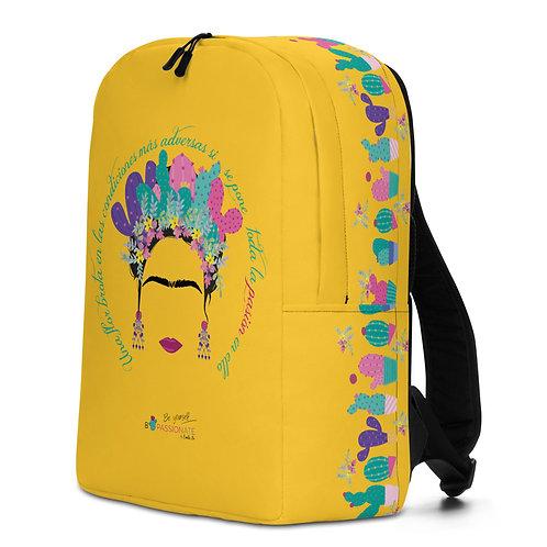 Large yellow 'B Yourself' backpack