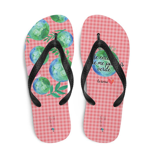 Chanclas rosas 'Planet lover'