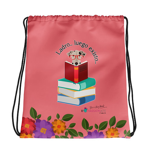 Basic coral 'The smart dog' backpack