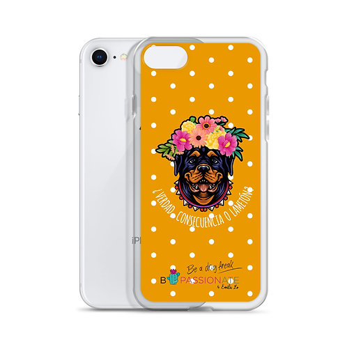 Orange 'Loving Dog' iPhone cases