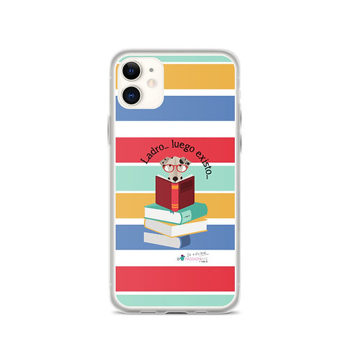 Colored stripes II 'The smart dog' iPhone cases