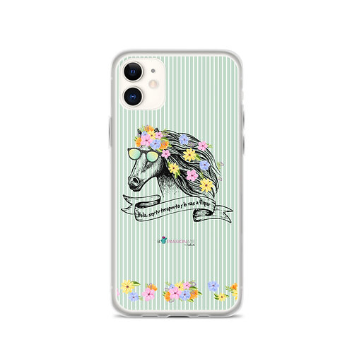 Green 'Therapist horse' iPhone cases