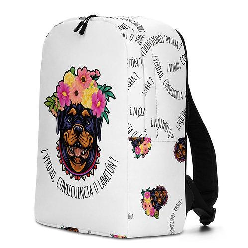 Large white 'Loving dog' backpack