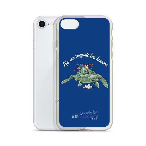 Navy blue 'Great turtle' iPhone cases