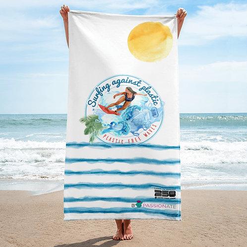 White wave towel 'Plastic-free waves'