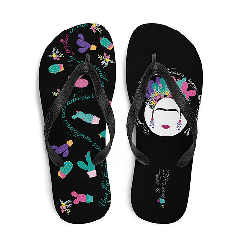 Black 'B Yourself' flip flops