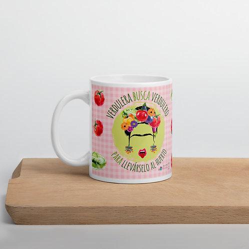 Pink 'Veggie lover' mug