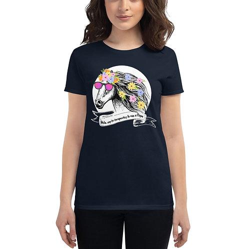 Camiseta mujer 'Caballo terapeuta'
