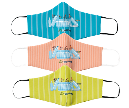 Pack 3 masks unlimited uses 'Re-Cycling'