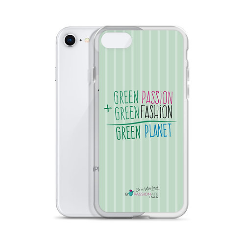 Green 'Passion + Fashion' iPhone cases