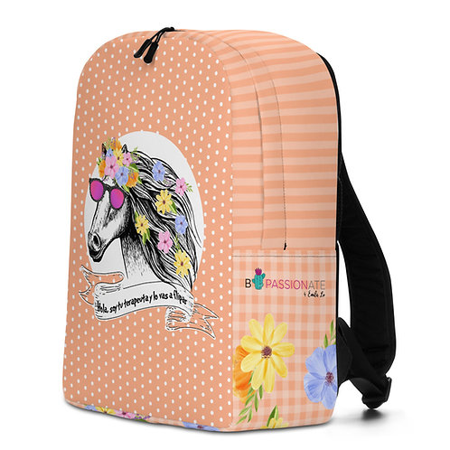 Large salmon 'Therapist horse' backpack