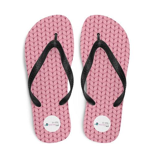 Pink 'Greatest Treasures' flip flops