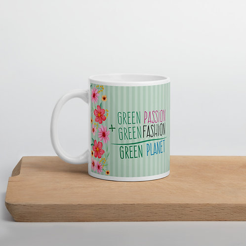 Taza verde 'Passion + Fashion'