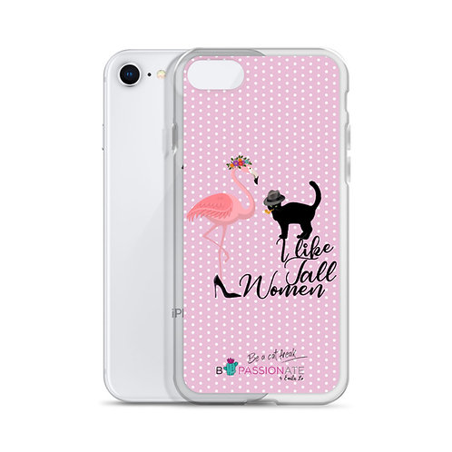 Pink 'Cat in love' iPhone cases