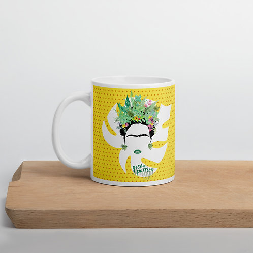 Taza amarilla 'Green Fashion'