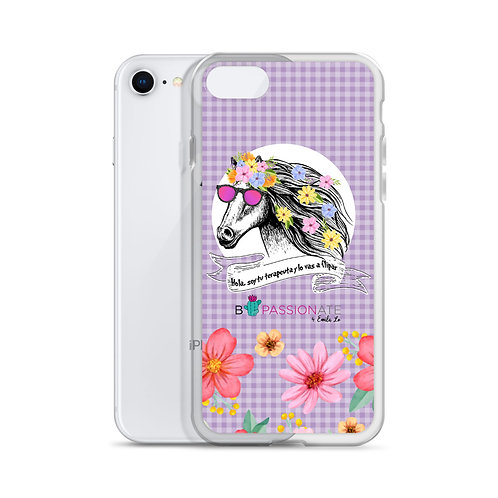 Purple 'Therapist Horse' iPhone Cases