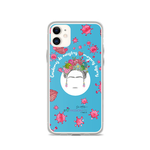 Blue 'Greater treasures' iPhone case