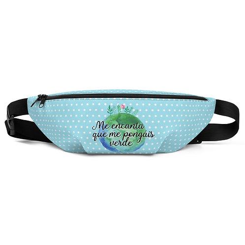Blue 'Planet lover' belt bag