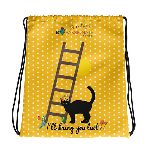 Yellow basic 'Lucky cat' backpack