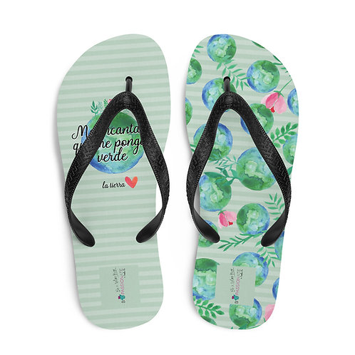Chanclas verdes 'Planet lover'