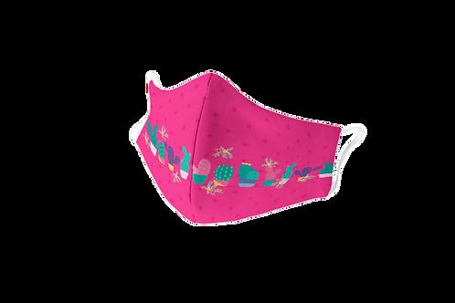 Fuchsia reusable 'B Yourself' mask