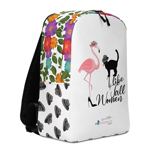Large white hats 'Cat in Love' backpack