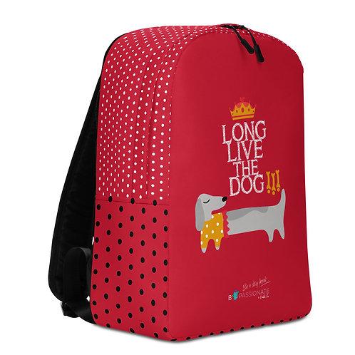 Mochila grande roja 'Long Live the Dog!'