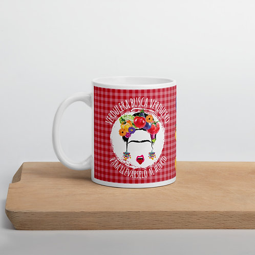 Red 'Veggie lover' mug