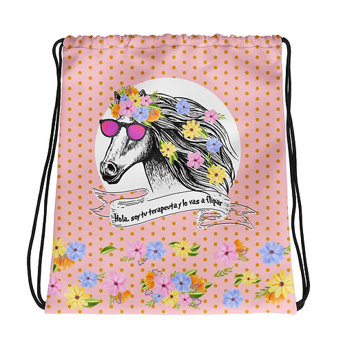 Pink basic 'Therapist horse' backpack