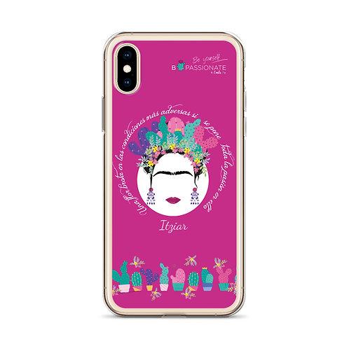 Funda iPhone X fucsia personalizada para Itziar