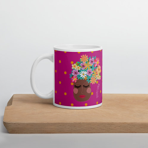 Fuchsia 'I want to dream' mug