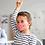 Thumbnail: Pink striped reusable 'The smart dog' mask