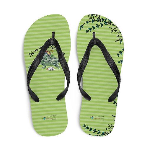 Green 'Great turtle' flip-flops