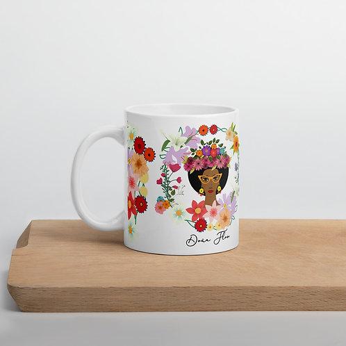 Taza blanca 'Doña Flor'