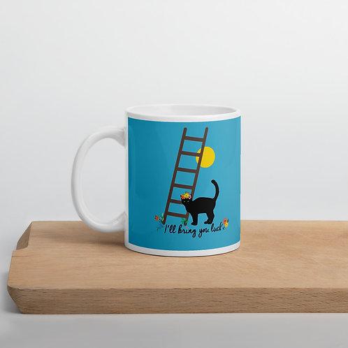 Taza azul 'Lucky cat'