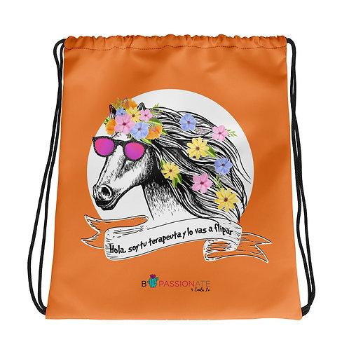Basic orange 'Therapist horse' backpack