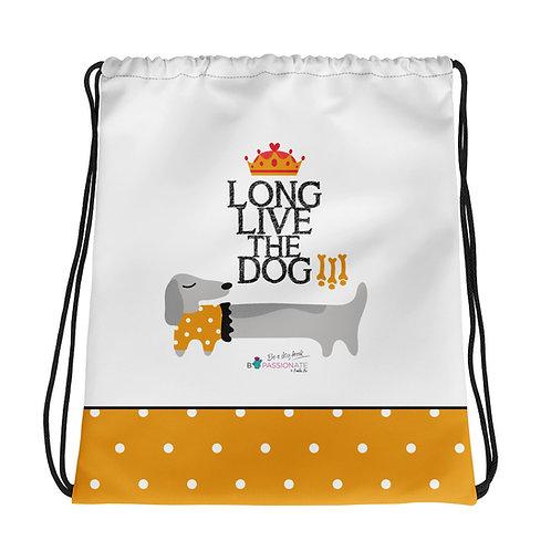 Mochila básica blanca 'Long live the dog'