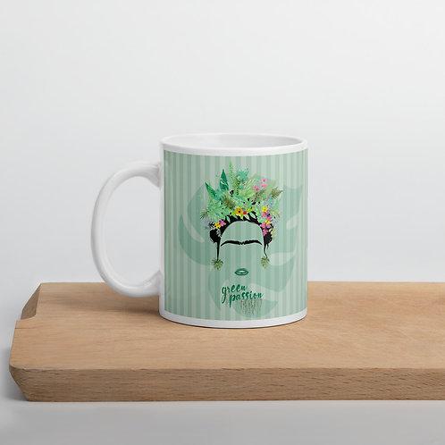 Green 'Green Fashion' mug