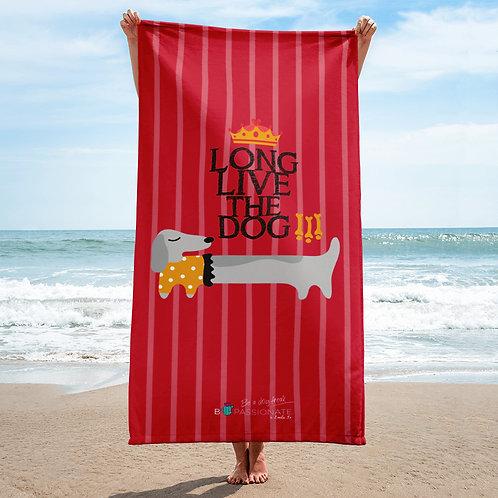 Toalla 'Long live the dog' modelo 1