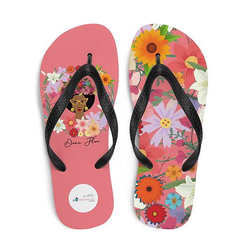 Pink 'Doña Flor' flip-flops