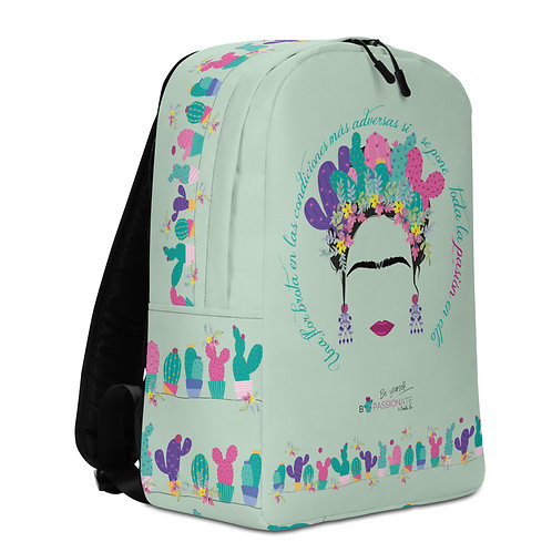 Large turquoise 'B Yourself' backpack