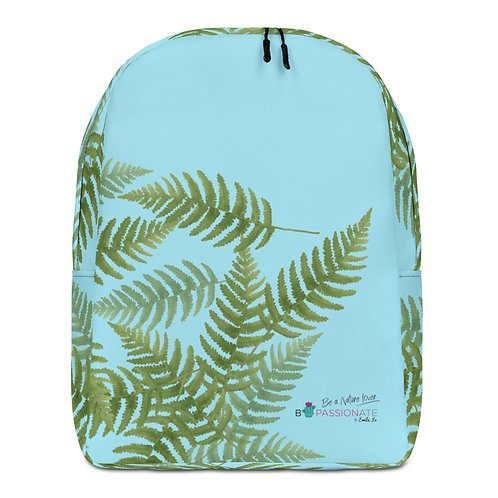 Large blue 'Green Passion' backpack