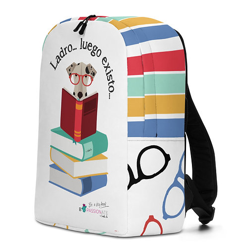Large white 'The smart dog' backpack